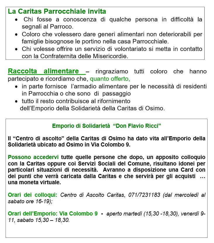 Aggiornamento Caritas 06-05-20