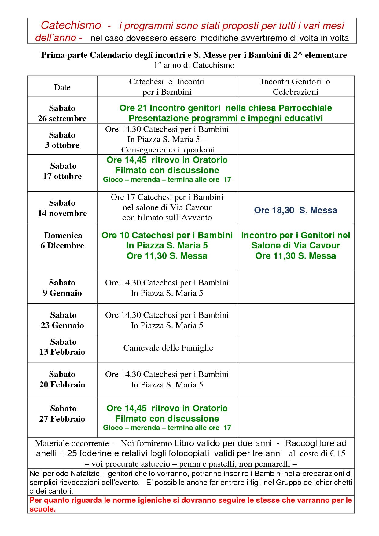 Oratorio - Catechismo Ott 20 bis2