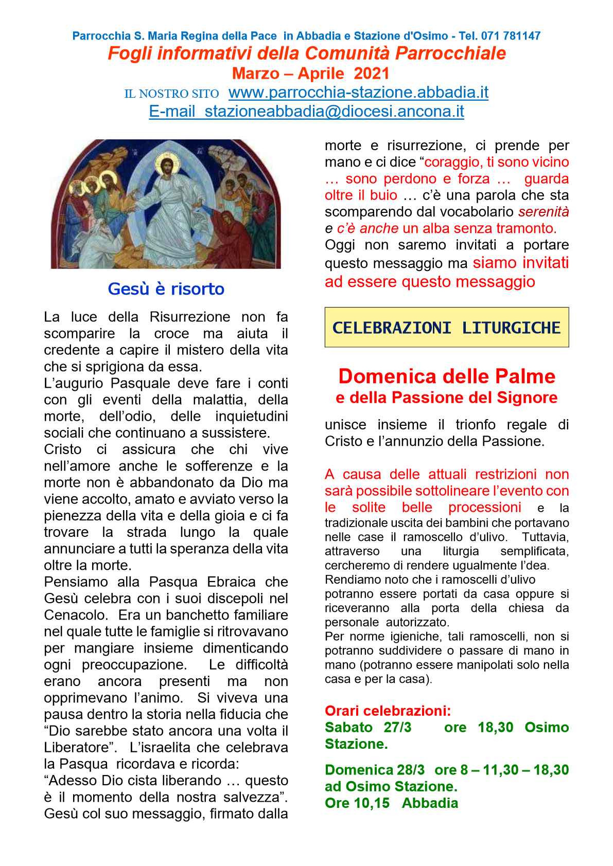 Fogli Informativi Aprile 21 - 1