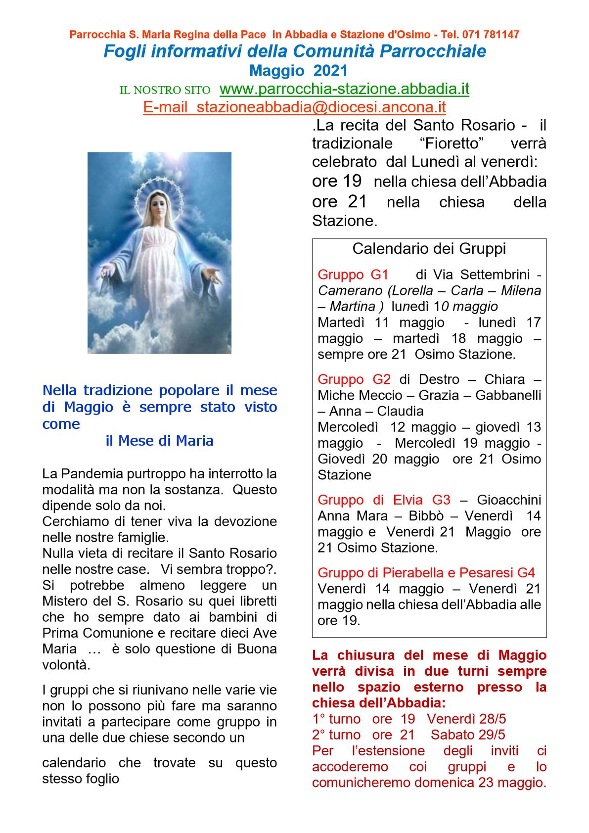 Fogli Informativi Maggio 21png